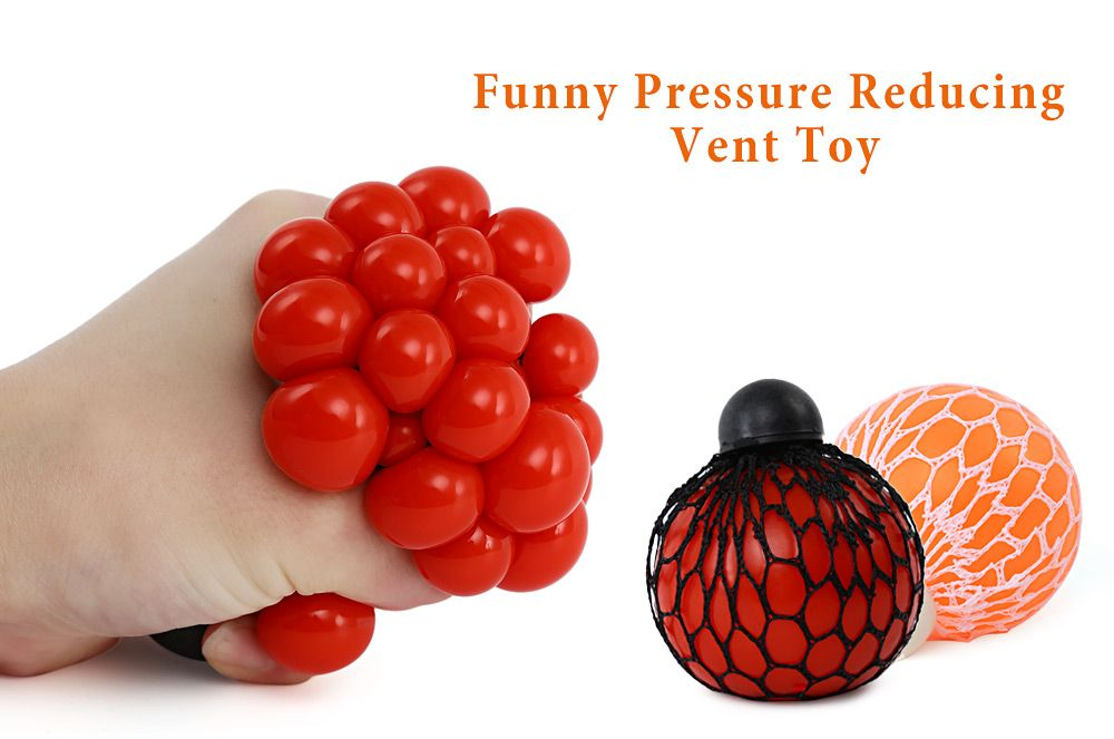 Mesh Grape Vent Ball Stress Relief Squeezing Toy