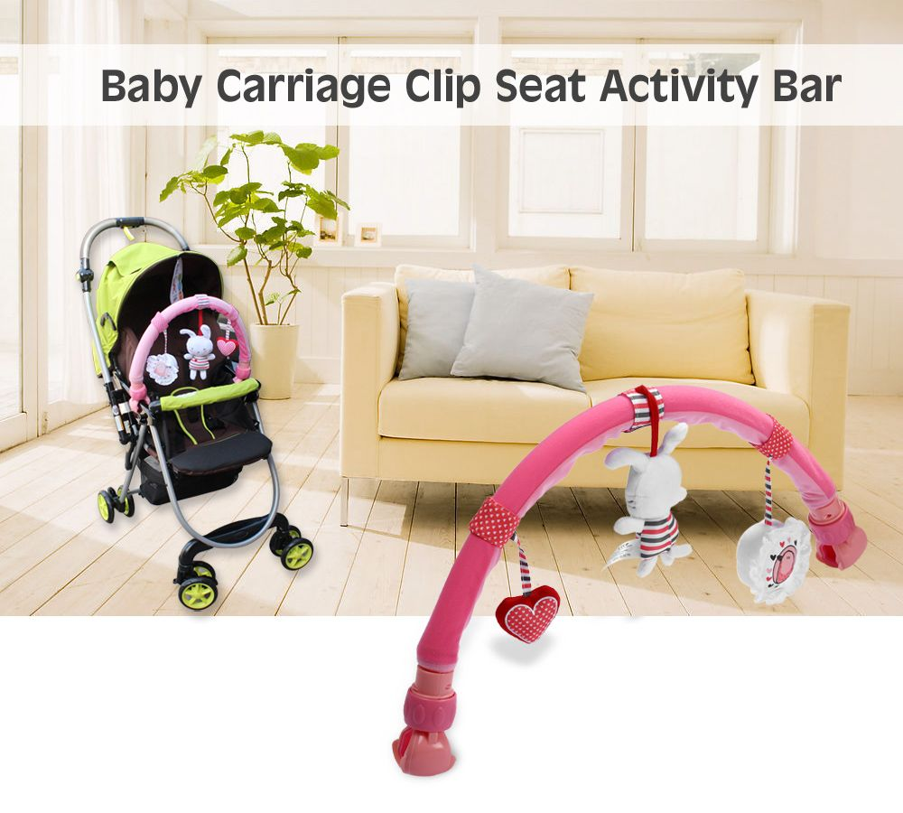 Sozzy Rabbit Shape Strollers Clip Seat Activity Bar