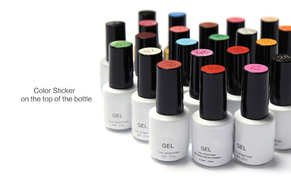 15 Colors 6ml Gel Polish Long-lasting Soak-off LED UV Nail Varnish