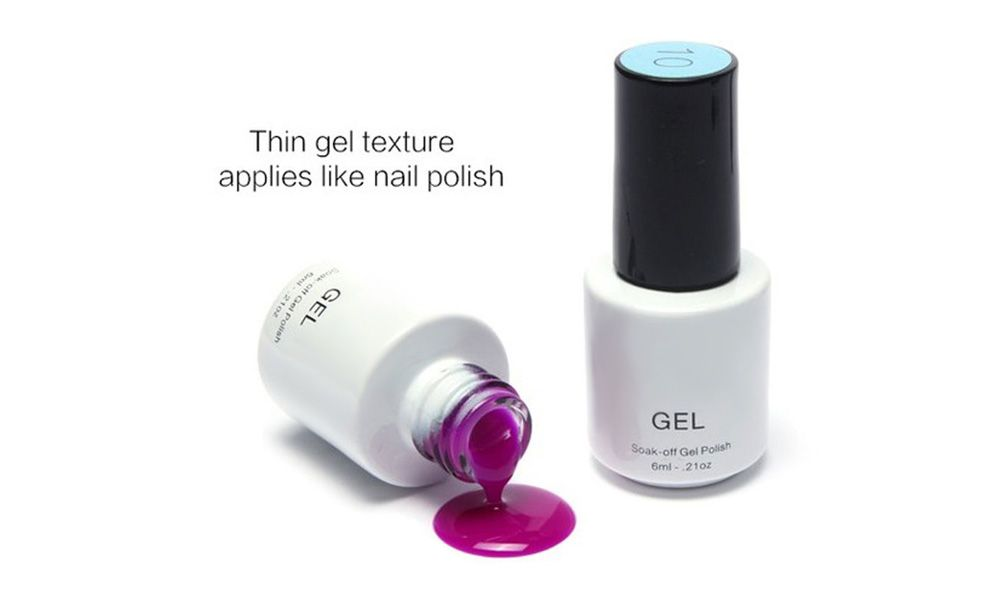 15 Colors 6ml Gel Polish Long-lasting Soak-off LED UV Nail Varnish