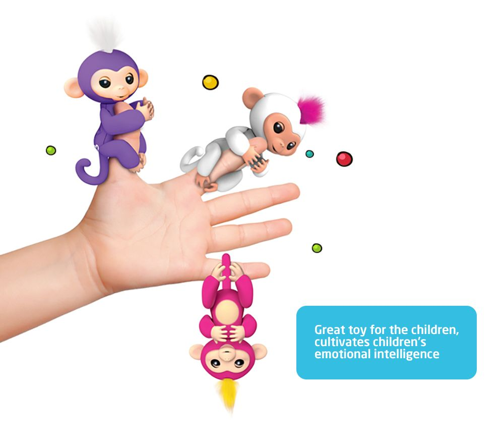 WowWee Fingerlings 6 Color Finger Monkey Smart Induction Toys
