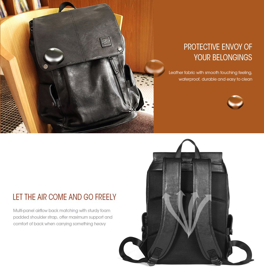 Vintage Multipourpose Leather Backpack for Men