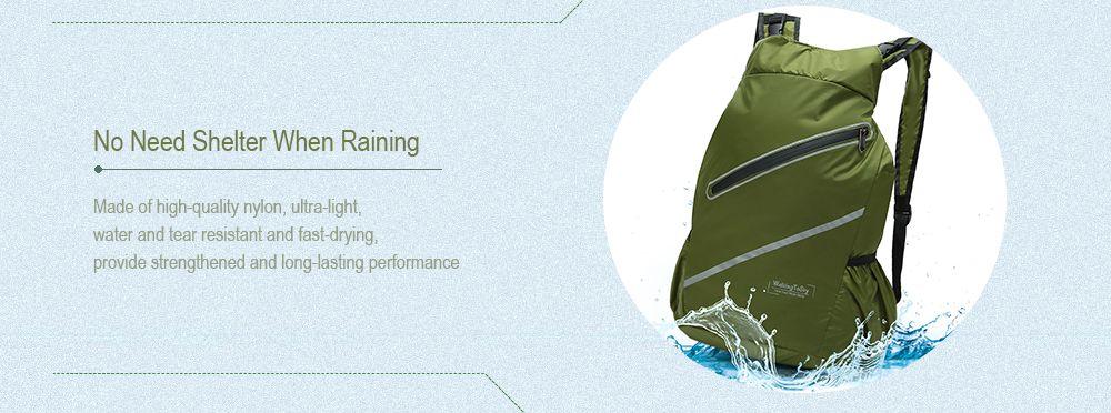 WalkingToSky Backpacks Foldable Lightweight Waterproof
