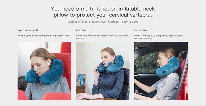 Relax Hump Bulge U Shape Neck Massager Pillow