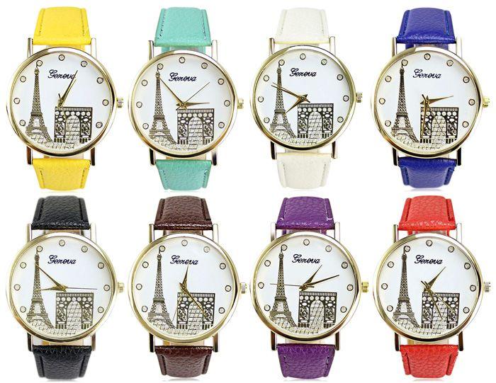 Geneva Women Diamond Quartz Watch with Golden Case