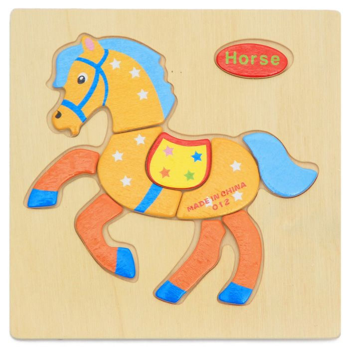 OU YI 2D Wooden Block Puzzle Children Educational Toy for Improving Imagination
