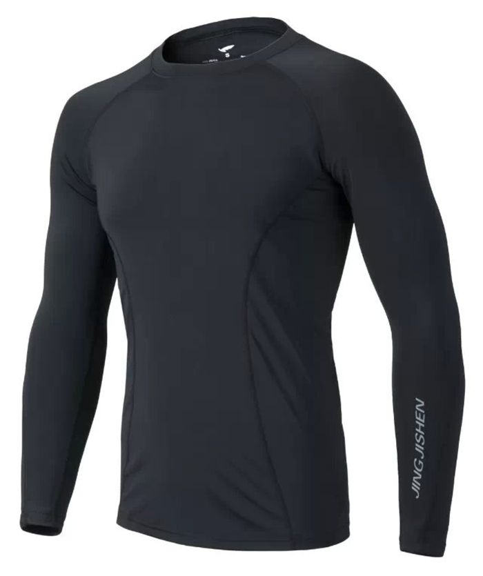 Male Slim Fitness Long Sleeves Polyester + Spandex Made