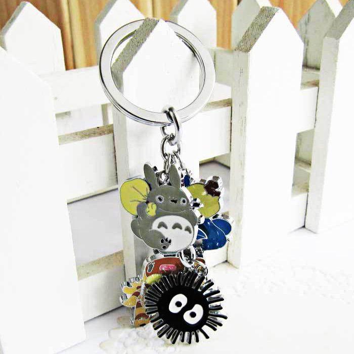 HALDER XA388 Metal Keyring My Neighbor Totoro Figure 5 in 1 Keychain