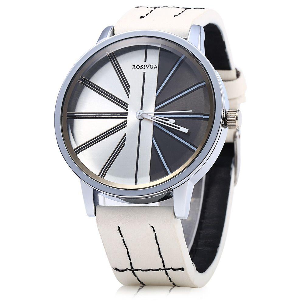 ROSIVGA 257 Leather Strap Men Quartz Watch
