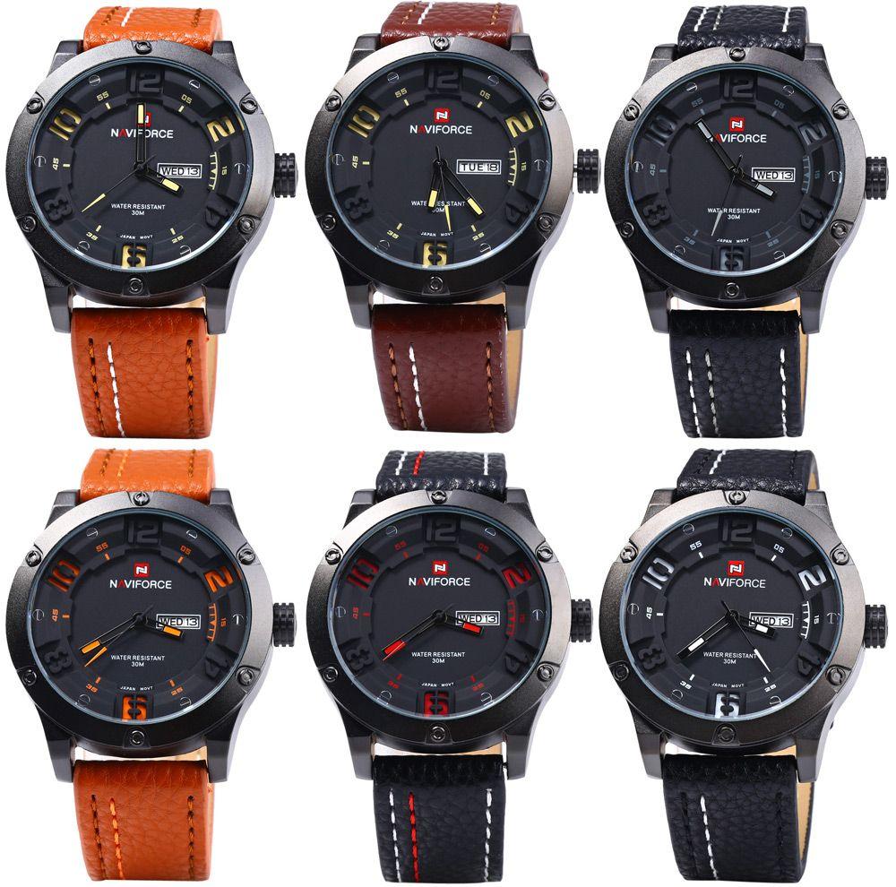 Naviforce 9070 Men Quartz Watch with Day Date Function