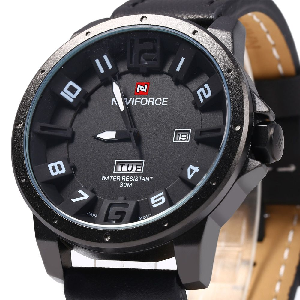 Naviforce 9061 Men Quartz Watch with Day Date Function