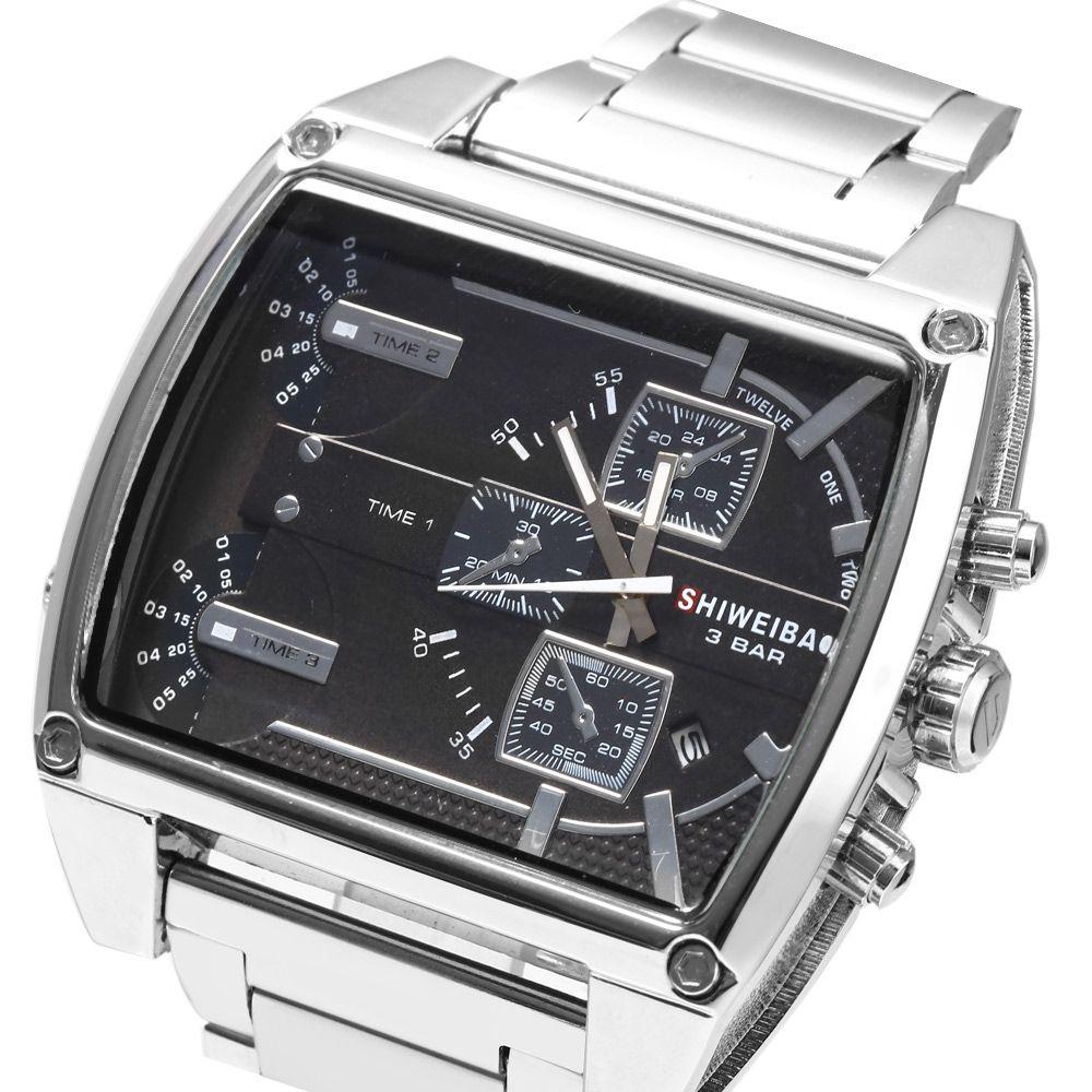 Shiweibao 4143 3-movt Date Function Male Quartz Watch
