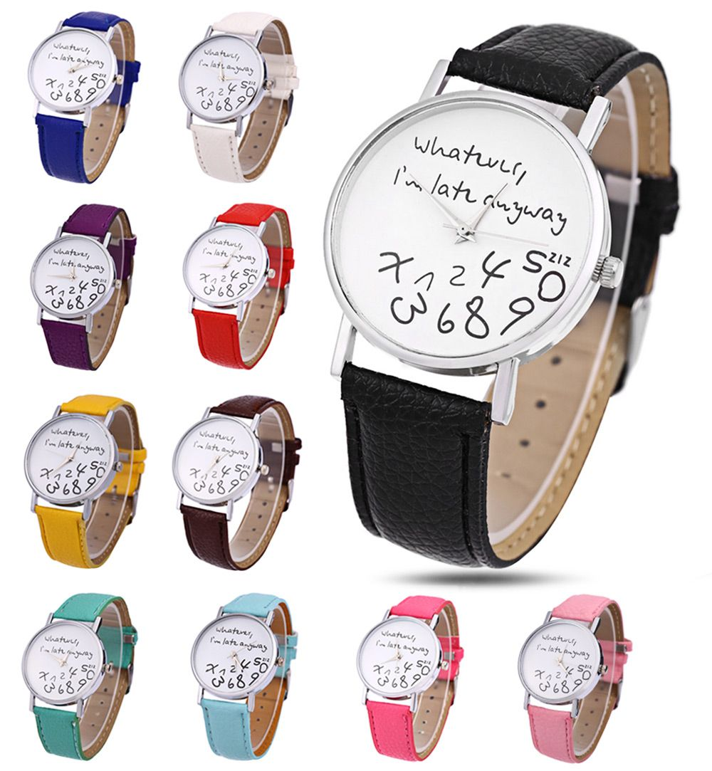 Leather Men Women Watches Fresh New Style Woman Wristwatch