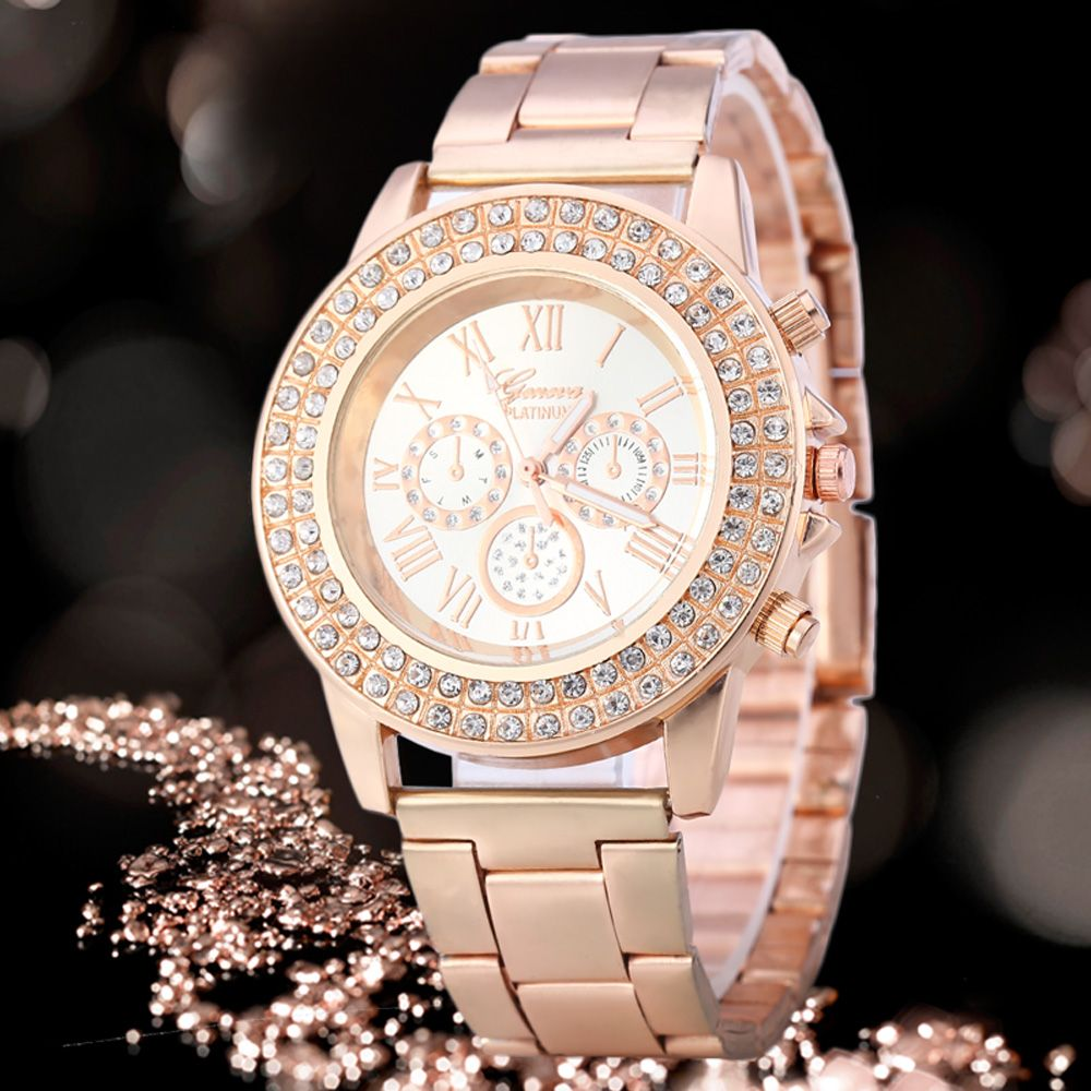 Shell Dial Steel Tassels Female Quartz Watch with Diamond-shaped Mirror Stainless Steel Strap