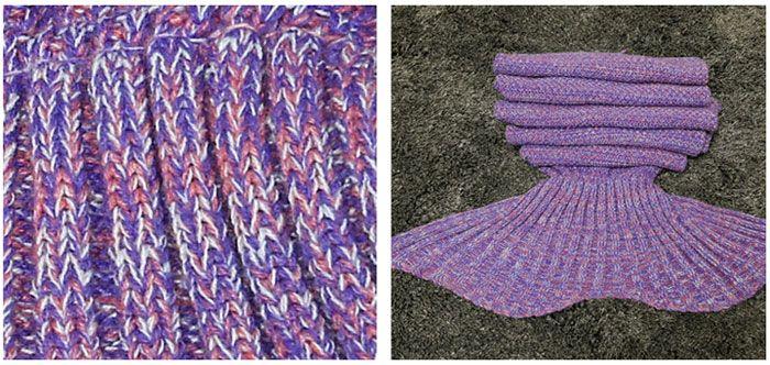 Crocheted / Knited Mermaid Tail Shape Blanket