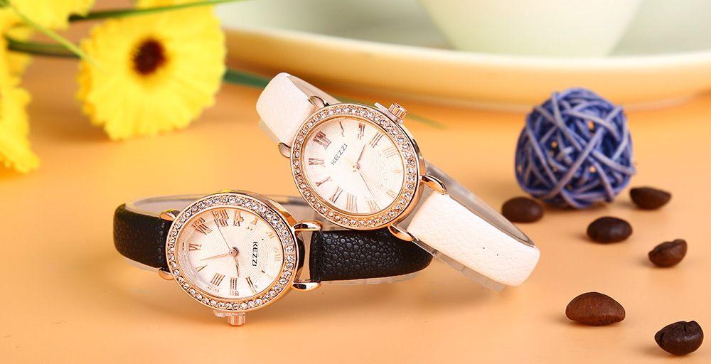 KEZZI K - 873 Women Quartz Watch Artificial Diamond Wristwatch