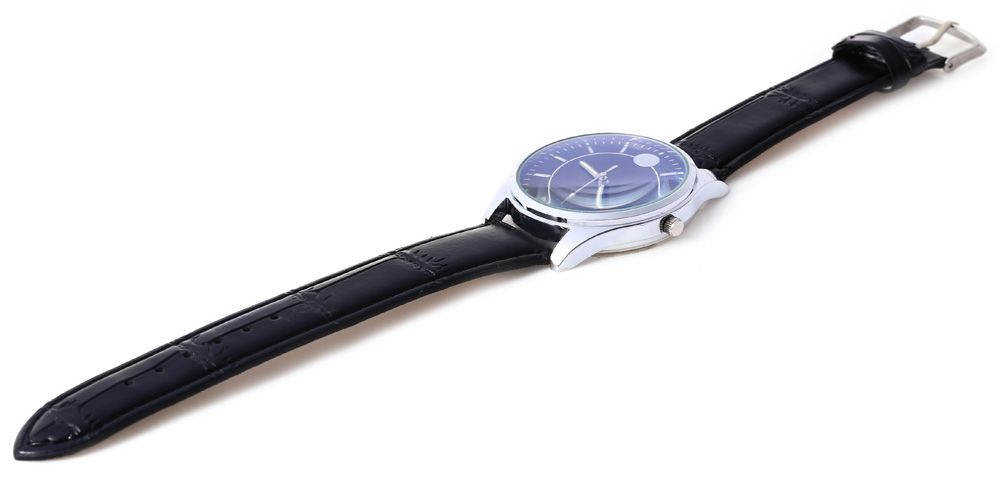 Business Male Quartz Watch Double Scales Leather Band