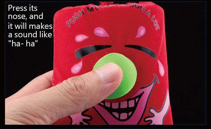 1PC Laughing Bag Funny Toy with Sound Silk Cover