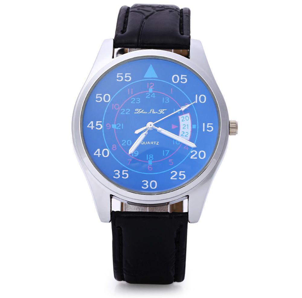 Male Quartz Watch Fashionable Sapphire Glass Water Resistance Wristwatch