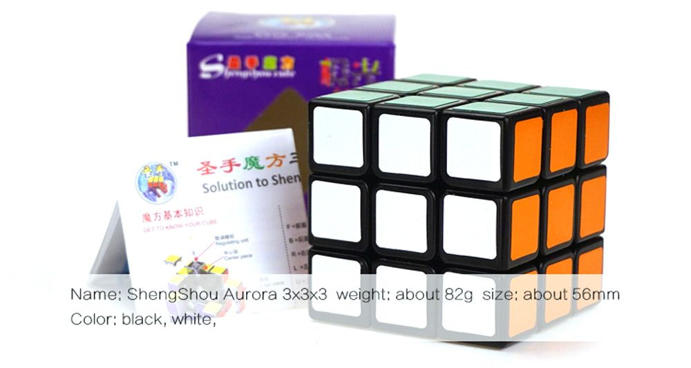 Shengshou Cube Aurora Magic Cube Black Base Fun Educational Toy