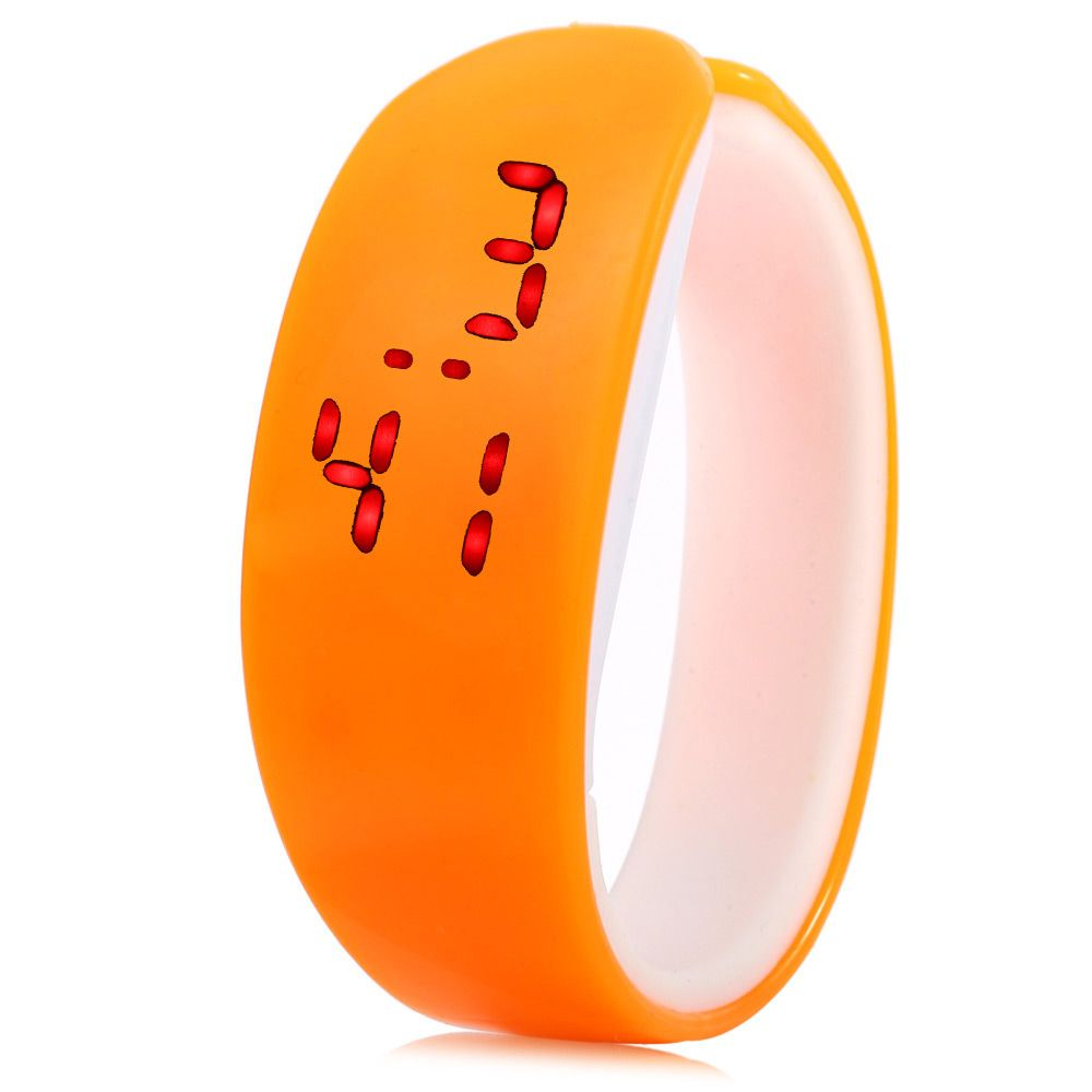 Jijia Red Subtitle Date Display LED Watch Candy Color Dolphin Shape Dial