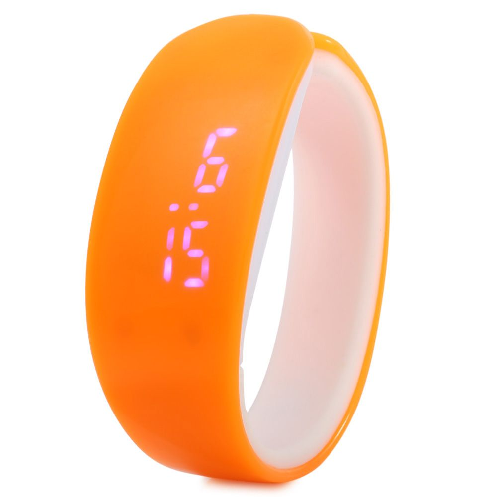 Jijia Blue Subtitle Date Display LED Watch Candy Color Dolphin Shape Dial
