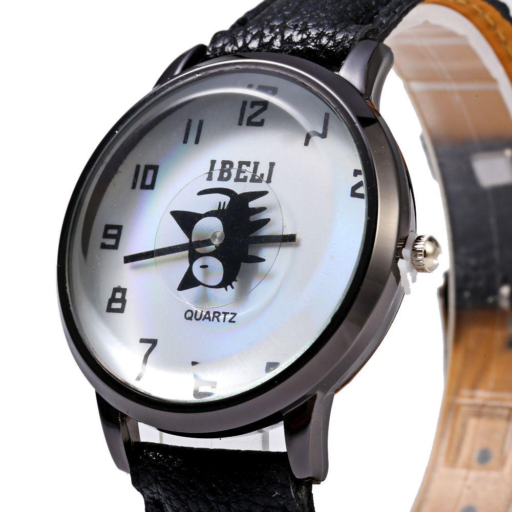 IBELI 802 Quartz Watch Black Cat Second Dial Arabic Numerals for Women