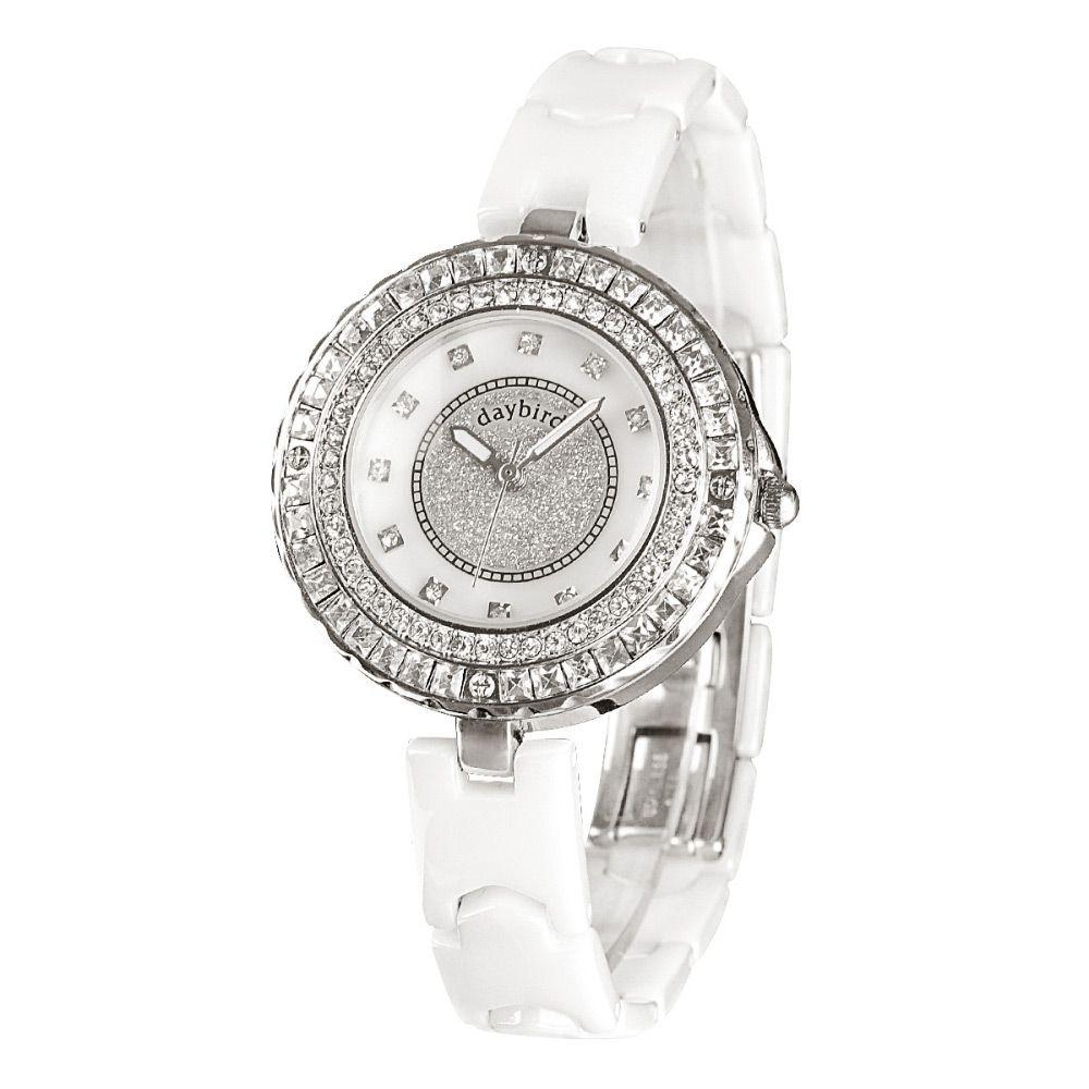 Daybird 3936 Female Quartz Watch Diamond Scale Water-resistant Wristwatch