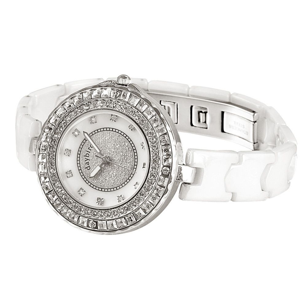 Daybird 3936 Female Quartz Watch Diamond Scale Water-resistant Wristwatch