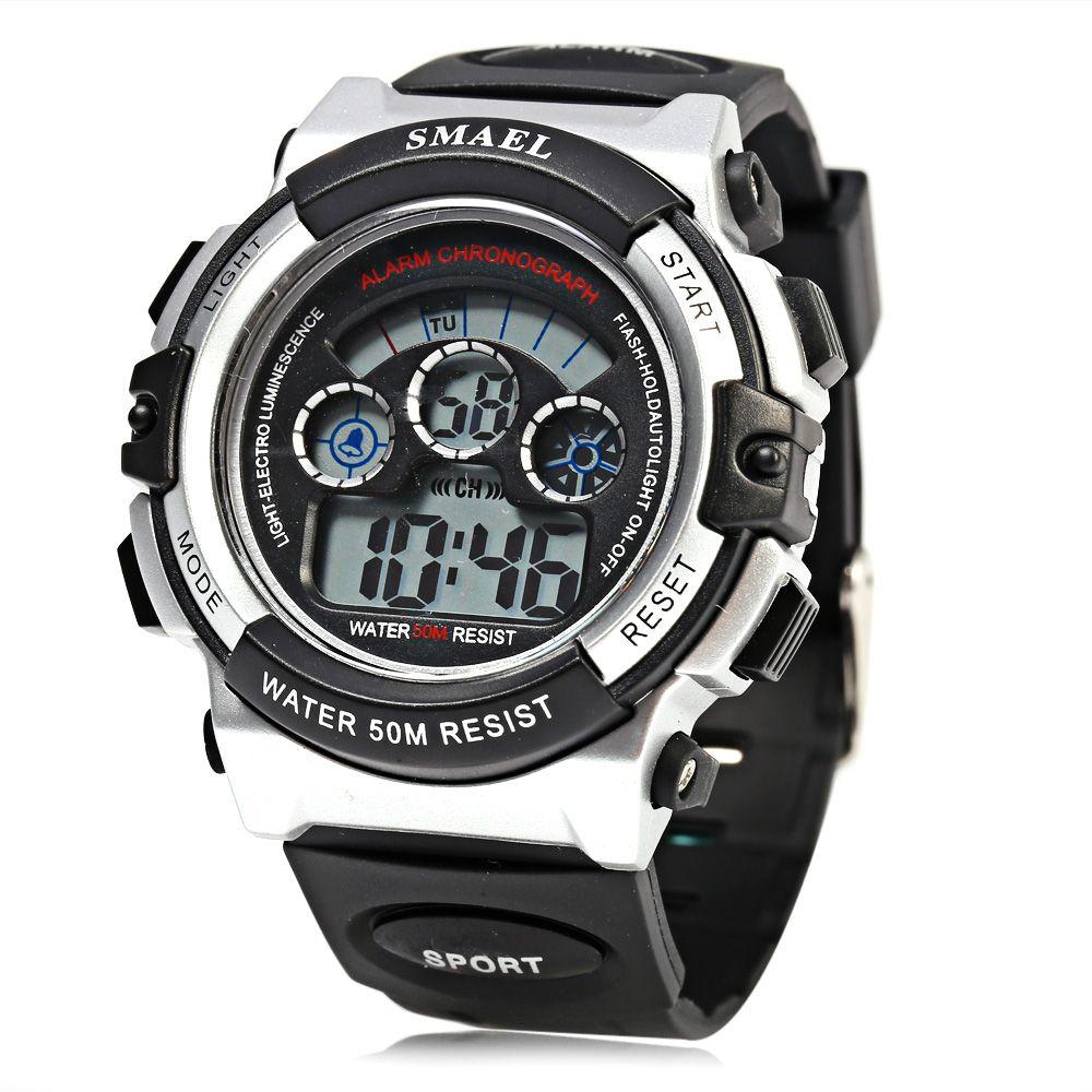 SMAEL 0508 Sports Digital Boys Watch 50M Water Resistant