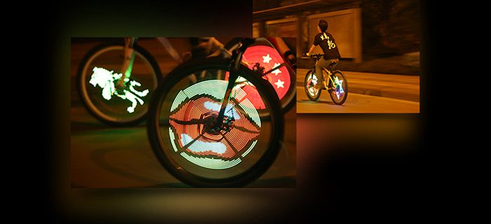 XuanWheel S1 Colorful Bicycle Wheel Spoke Light with 96pcs RGB LED App Control