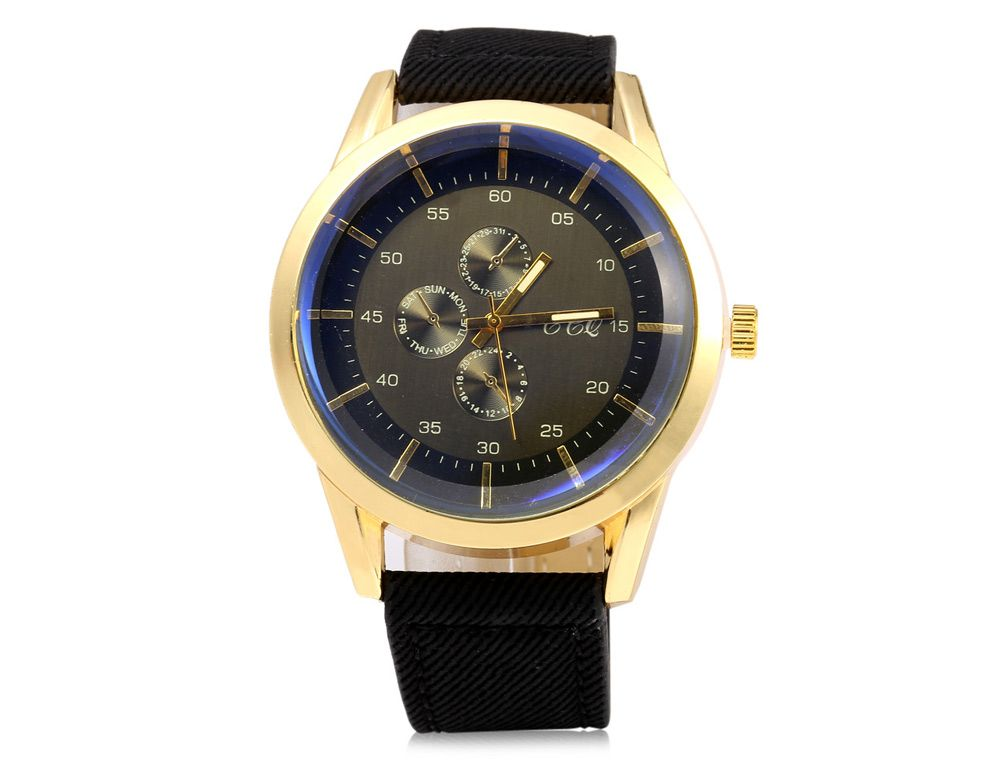 S-56 Three Decorative Sub-dials Male Quartz Watch