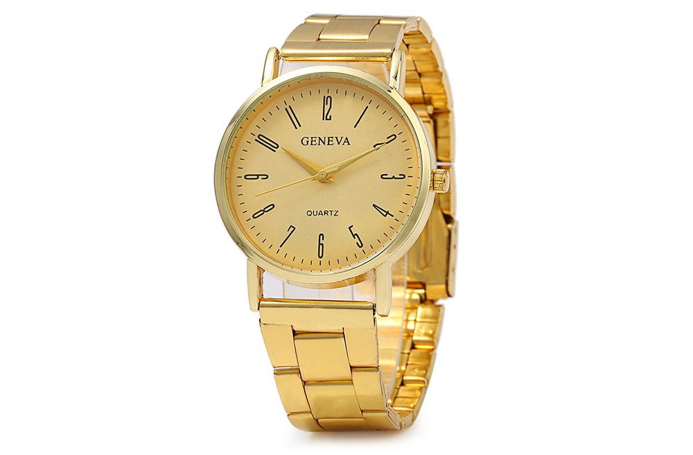 GENEVA 001 Male Quartz Watch Stainless Steel Band
