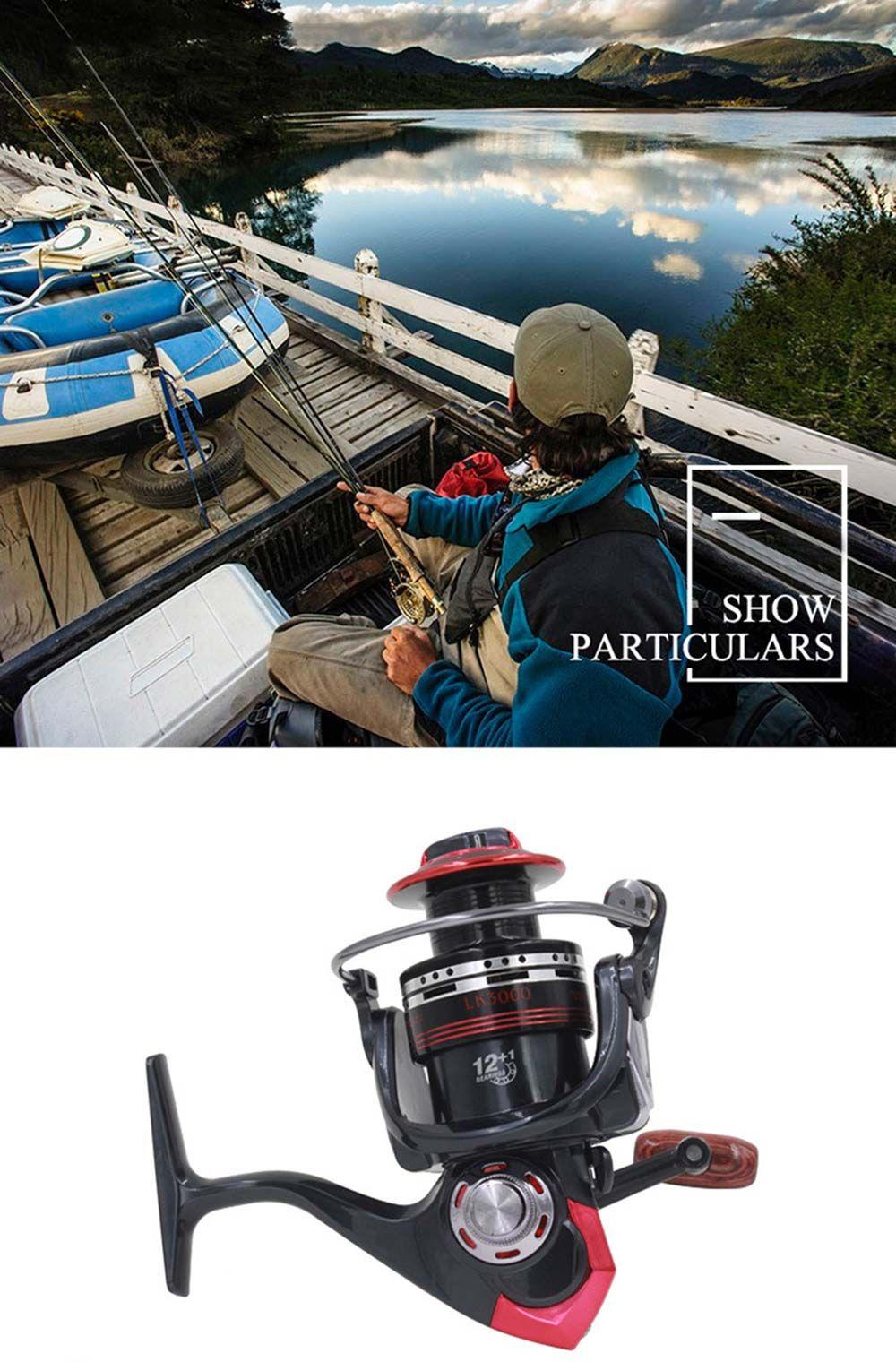 DIAODELAI LK2000 13 Ball Bearings Metallic Spinning Fishing Reel