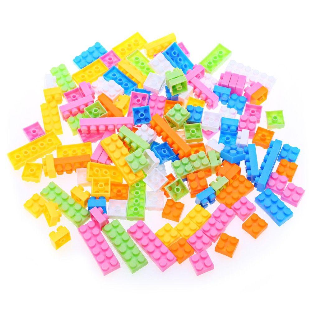 144pcs Kids Multicolor Plastic Creative DIY Educational Building Blocks Puzzle Game Toy