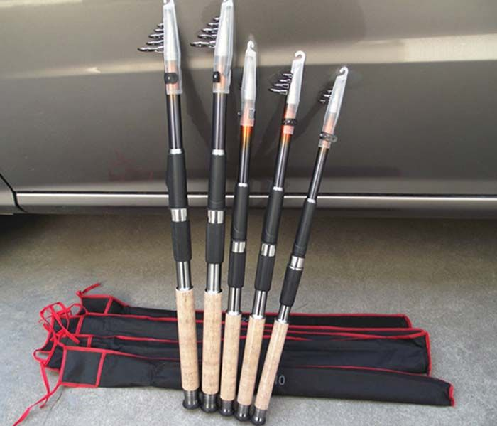 DIAODELAI 106.3 inch Telescoping Carbon Fishing Rod Fish Pole Tackle
