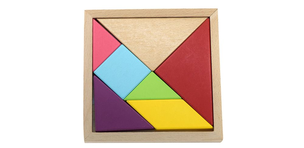 Maikou MK518 Educational Wooden Tangram Puzzle Toy for Children / Kid
