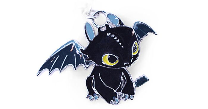 Key Chain Hanging Pendant Dragon Shape Keyring Movie Product for Bag Decoration