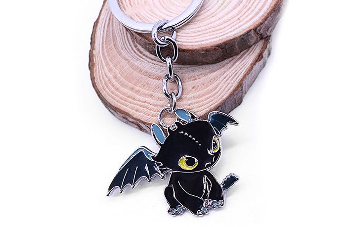 Key Chain Hanging Pendant Dragon Shape Keyring Movie Product for Bag Decoration