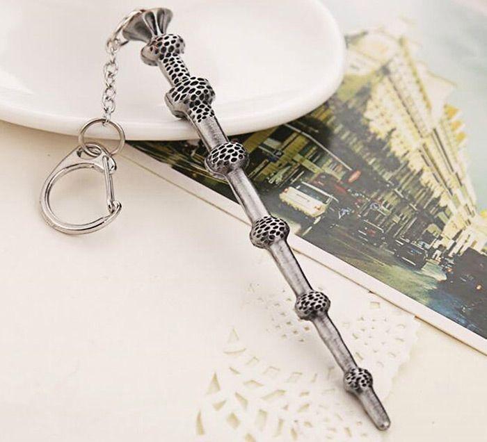 Key Chain Hanging Pendant Magic Wand Shape Keyring Movie Product for Bag Decoration