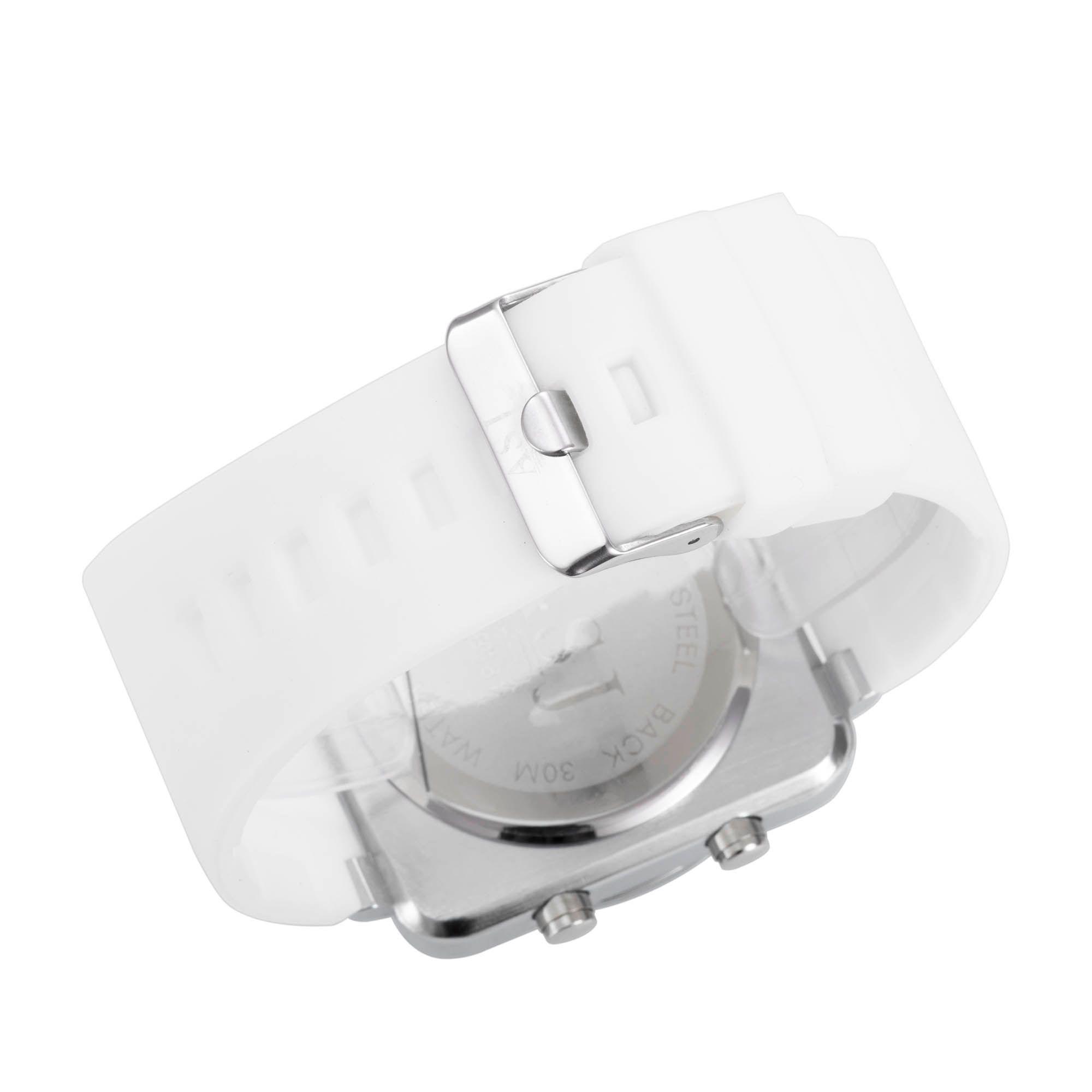 ASJ b008 Dual Movt Three Year Battery Men Quartz + Digital Watch