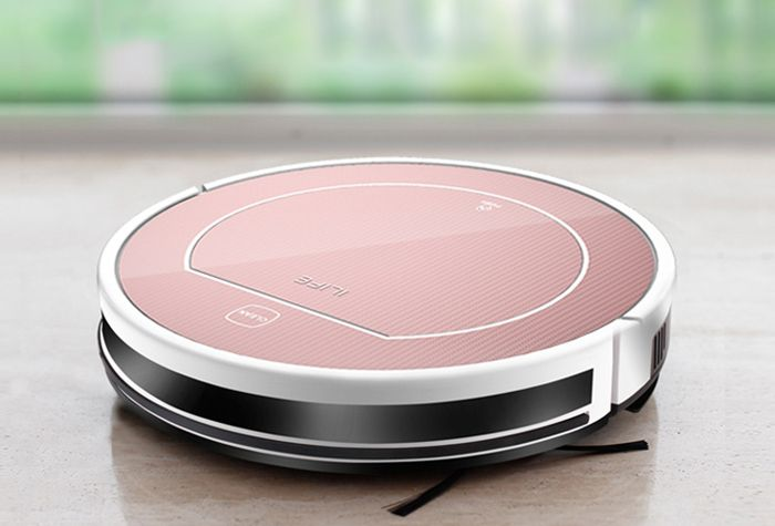 ILIFE V7S Smart Robotic Vacuum Cleaner Cordless Sweeping Cleaning Machine Self-charge Timing Function IR Avoidance Sensor Automatic Mop