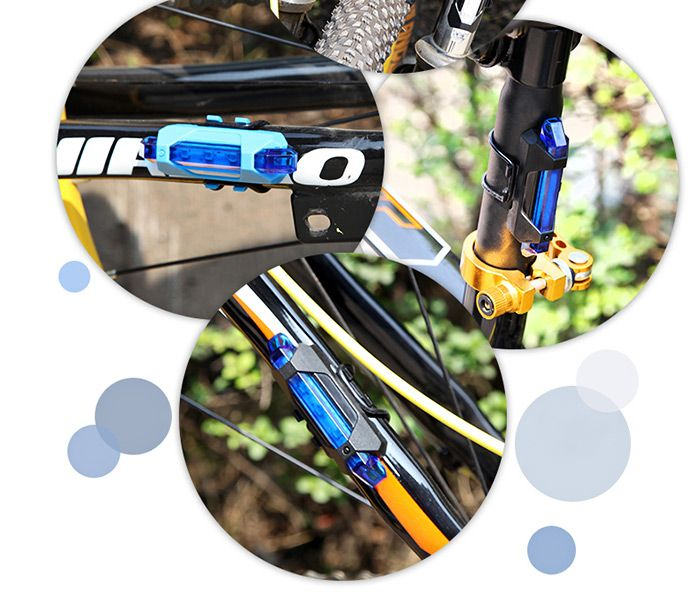 Portable LED USB Rechargeable Cycling Bike Tail Light