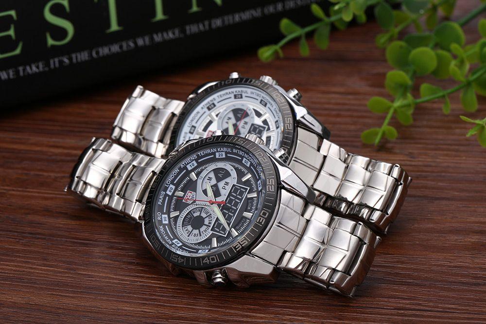 TVG KM-468 Seal Elite Military Sports Watch Dual Movement Digial LED Anolog Display Quartz Wristwatch