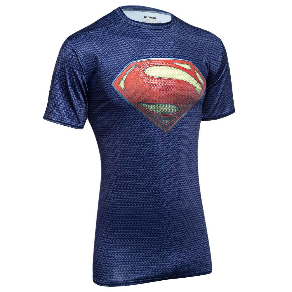 Stylish Round Neck Slim T-shirt with 3D Printing for Men