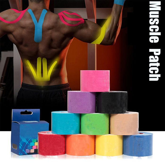 500 x 5cm Breathable Muscle Patch Elastic Sport Bandage