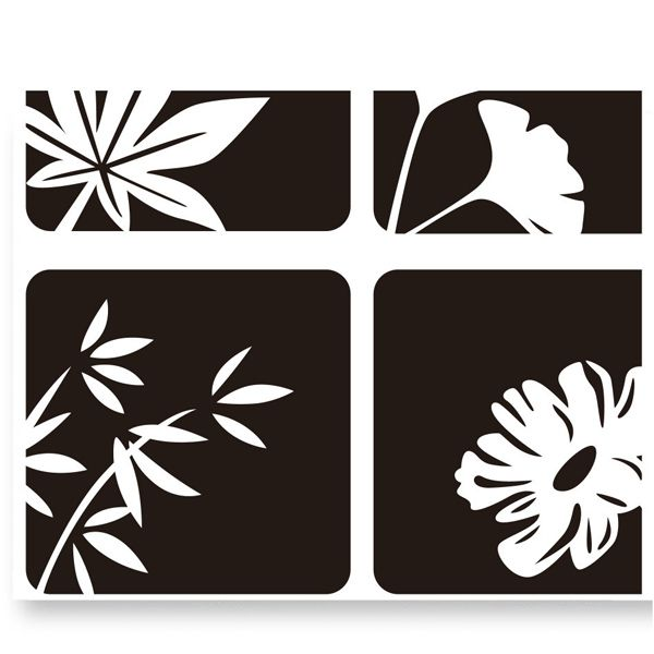 Flowers Style Removable Art Decal Wall Sticker