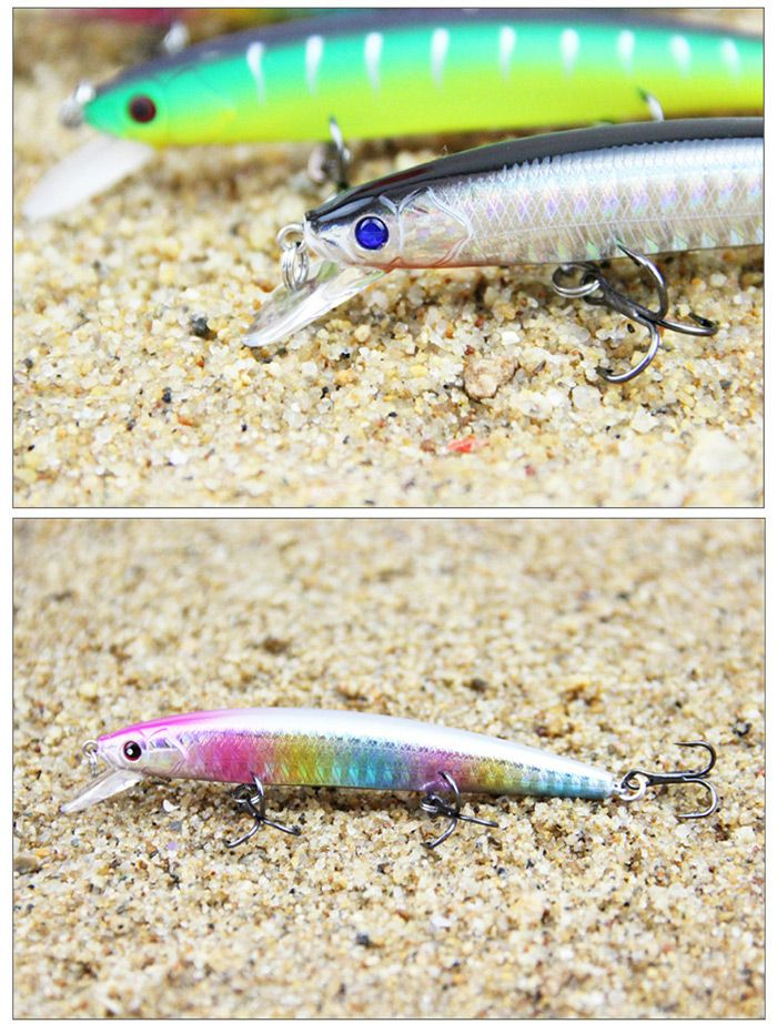 ILURE PEO Minnow Short-tongue Hard Fishing Bait with Hooks