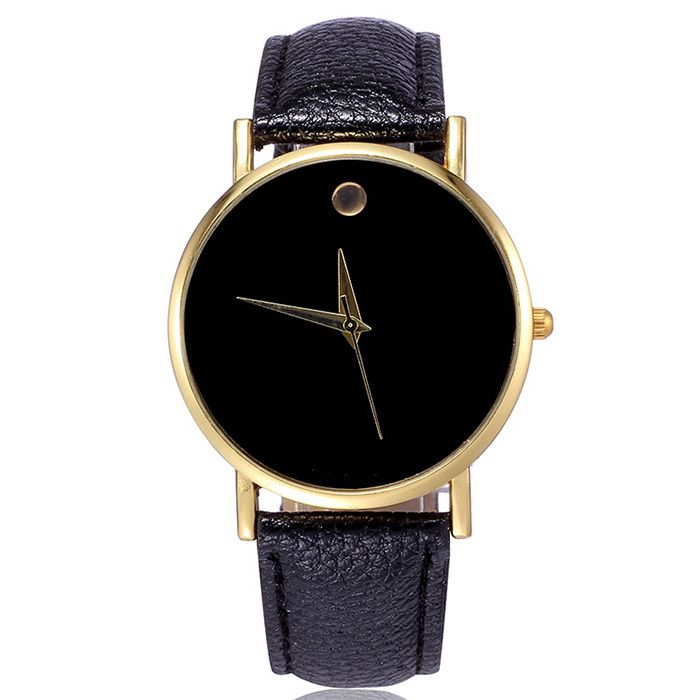 Simple Men Quartz Watch Leather Watchband Wristwatch