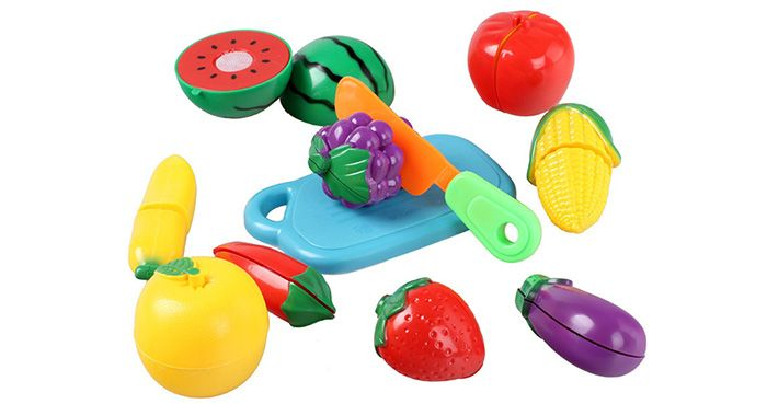 Plastic Artificial Vegetable Fruit Cutting Knife Educational Toy for Children